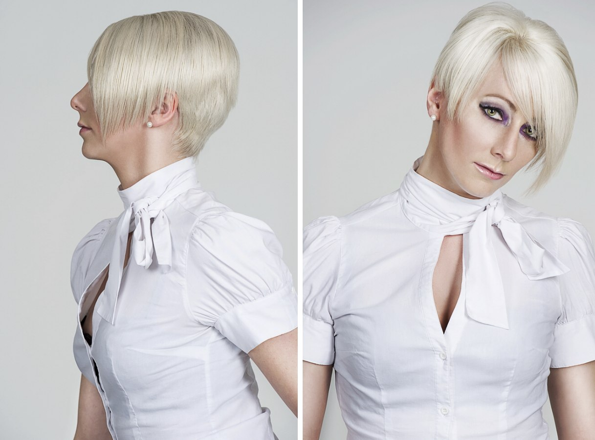 Short Stacked Bob With Razor-cutting To Give Added Length