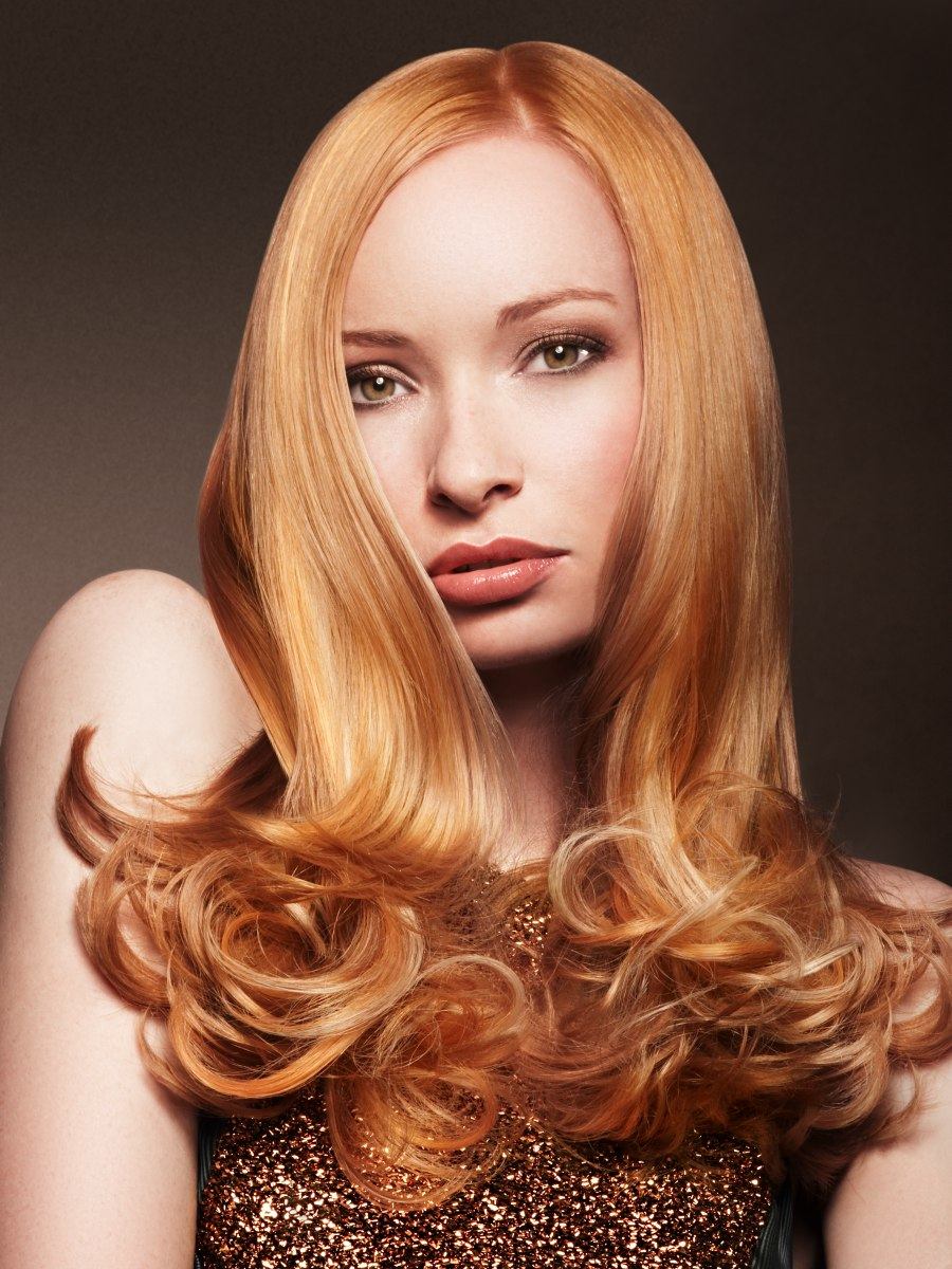 Hair And Make Up Artistry By Amber: Long Hair With Rounded Curls In The Tips For A Ladylike Look