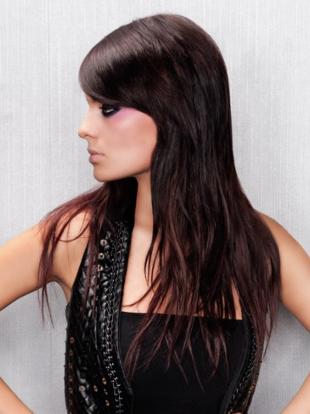 Layered Neck Length Haircut With Tapered Sides