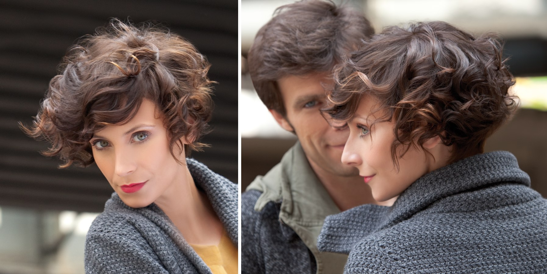Short Hairstyle With Trapeze Shaped Curls And A Graduated Back - Short hairstyles with curls