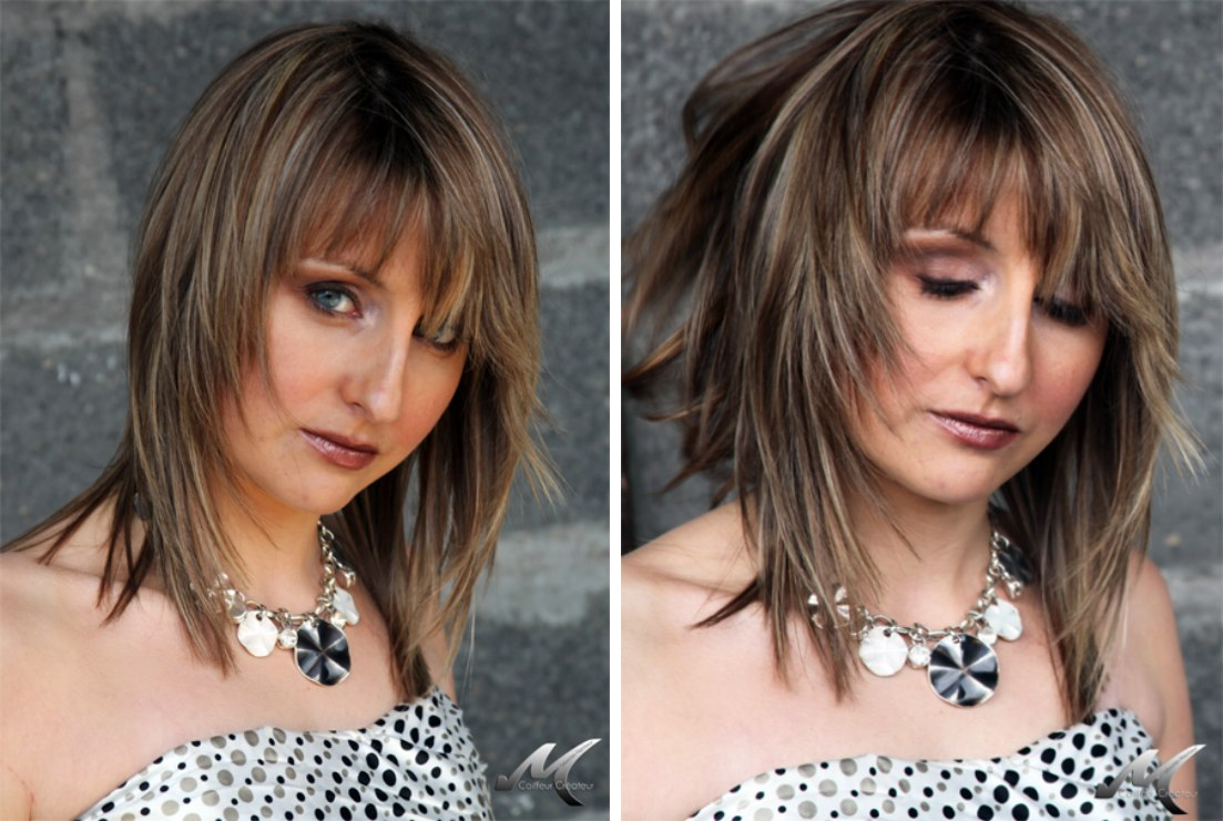 Lightweight Long Hairstyle With Tapered Feathering Along