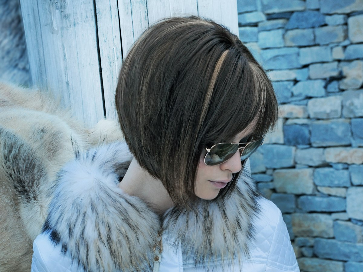 Smooth and elegant A-line bob cut, layered and cut with ...