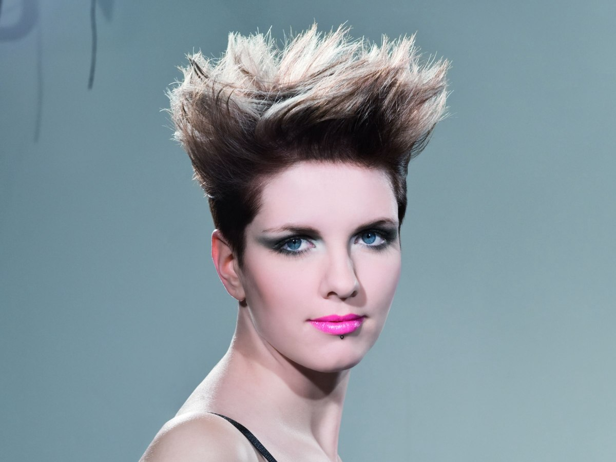 Haircut With Millimeter Short Sides And Spiky Styling