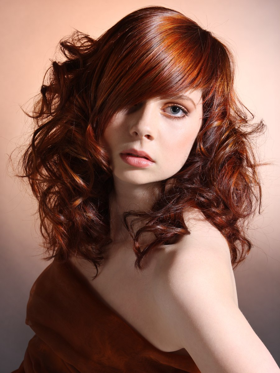 Modern Long Hairstyle With Curls Straight Top And Tapered