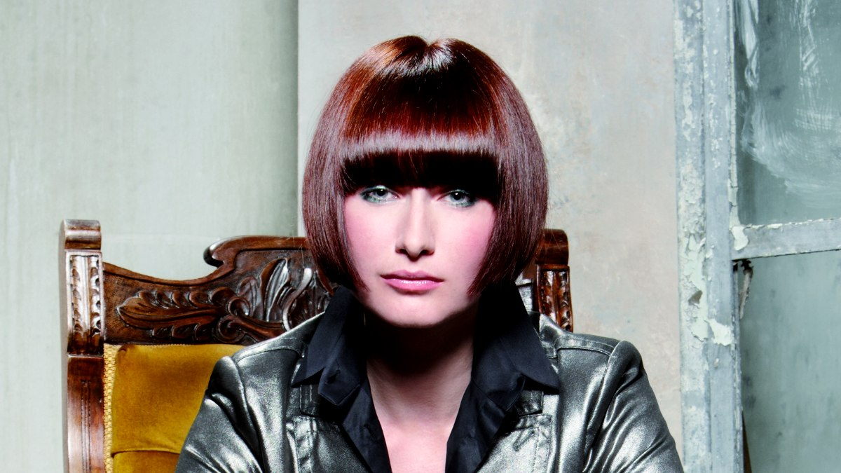 Pageboy Haircut With The Fringe Curved Inward
