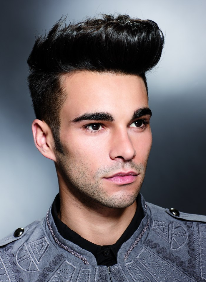 Fifties quiff hairstyle for men | Short clipped sides
