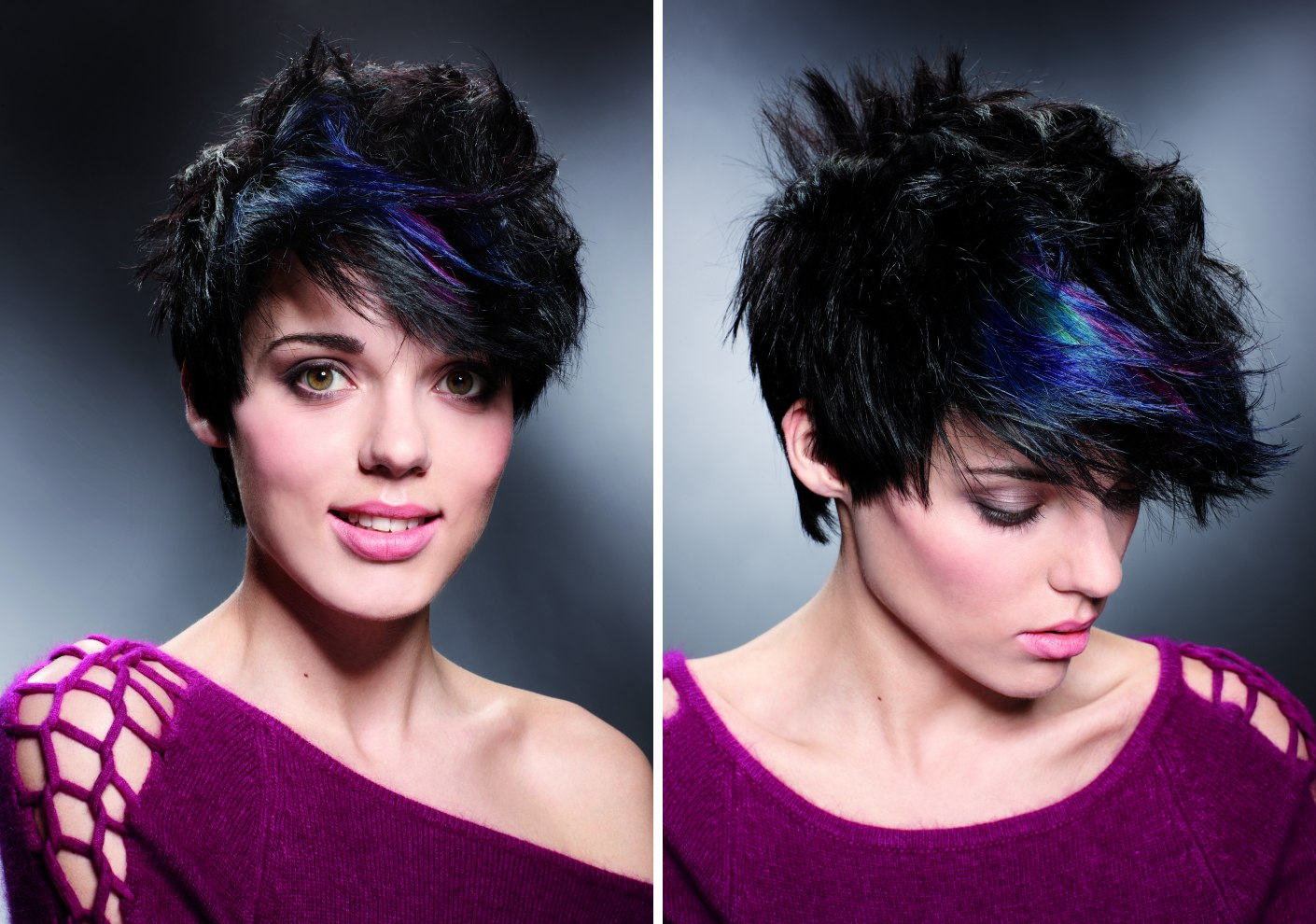 Fun Short Haircut With Hair Colors That Can Be Changed