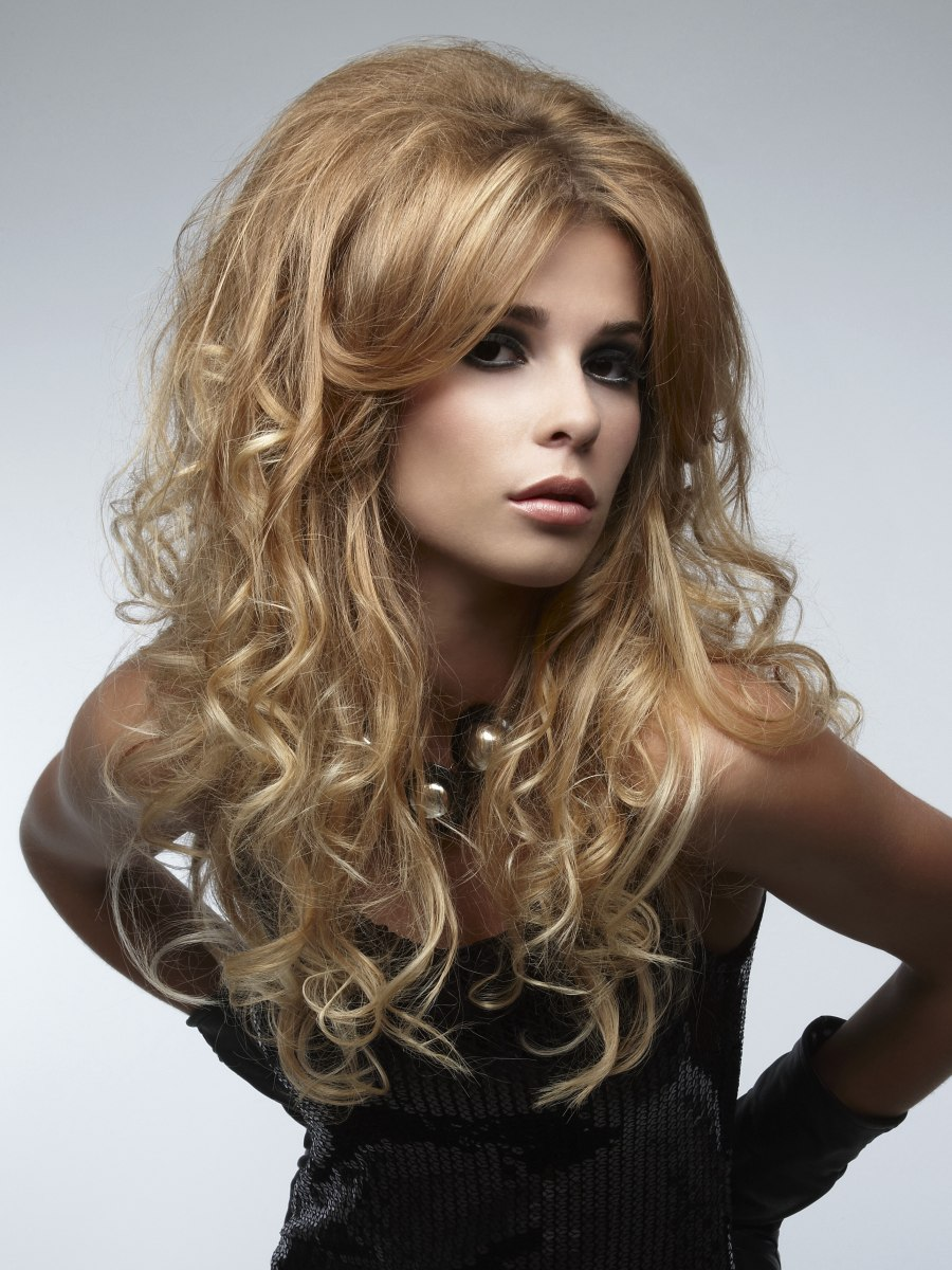 Long Hairstyle With Huge Waves And Gigantic Curls