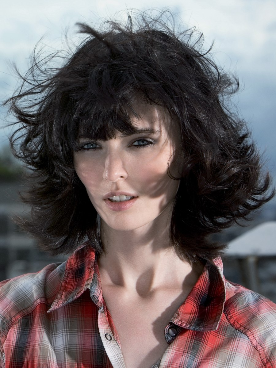 Layered Feminine Haircut That Still Looks Good In The Wind