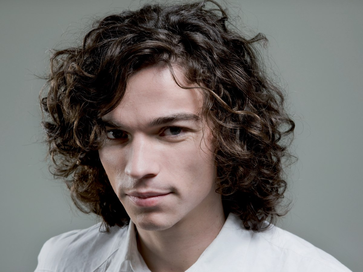 Curly long hair men styles
