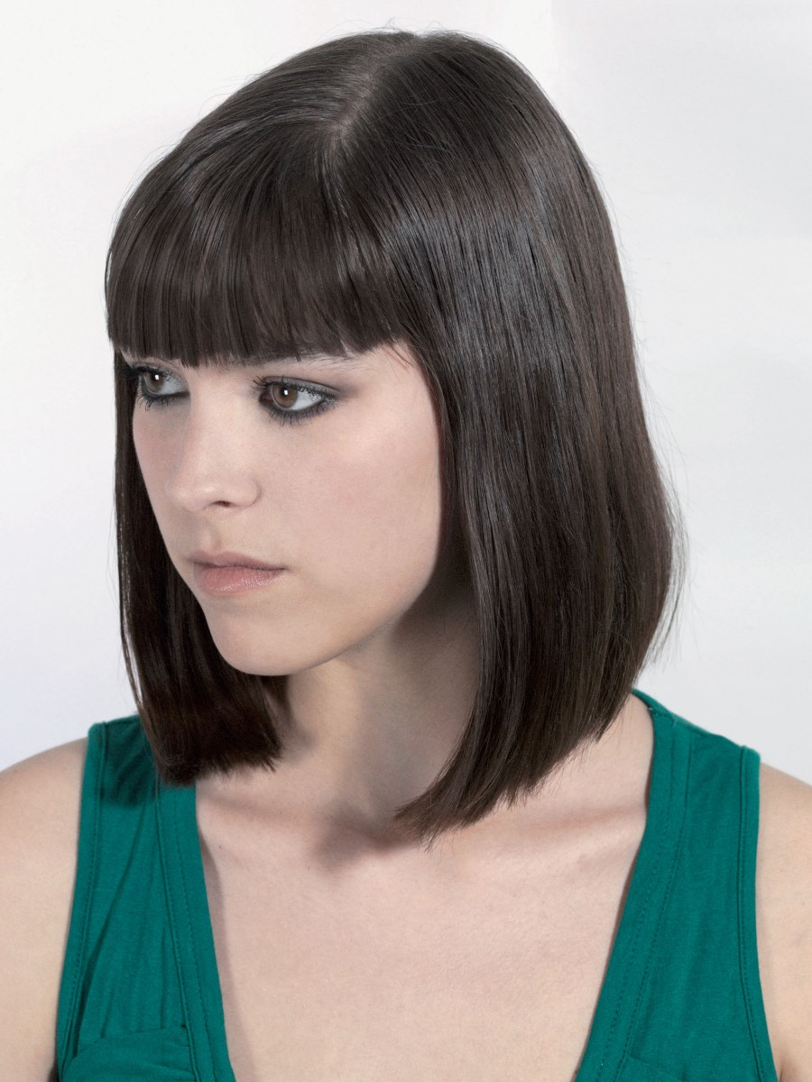 Long Pageboy Hairstyle