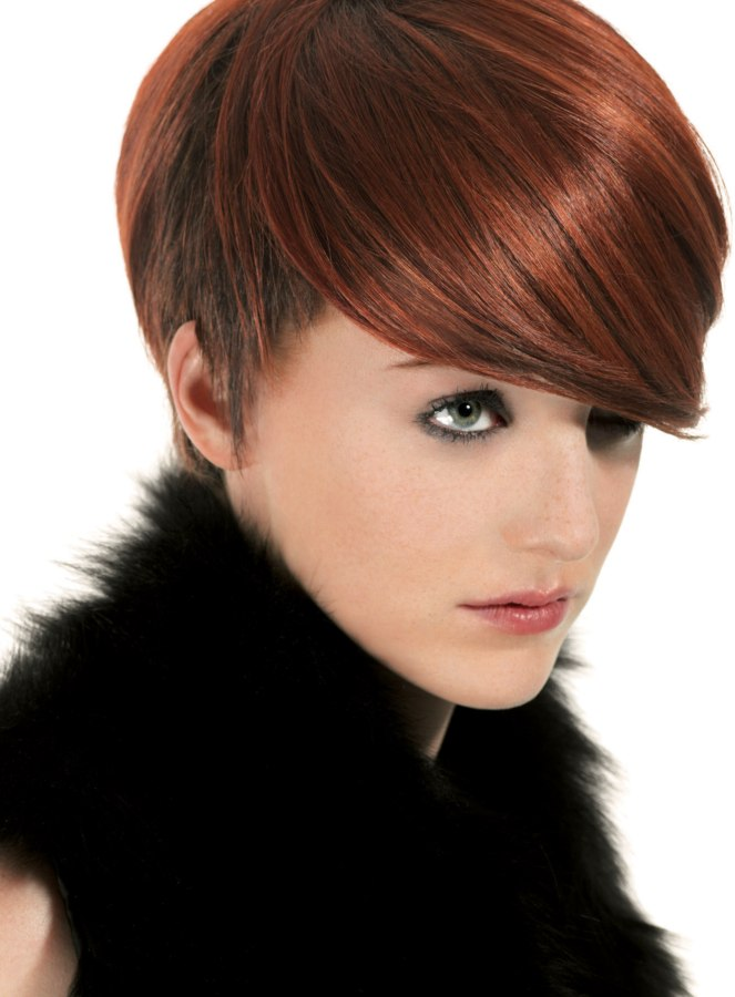 Short hairstyle with the neck and sides cropped really short