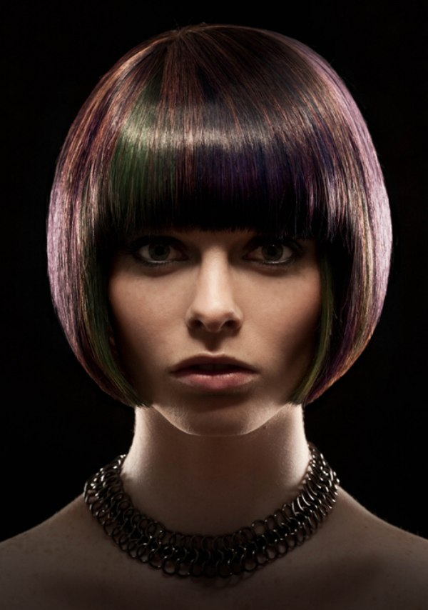 Smooth Quintessential Bob Cut With A Curved Silhouette And