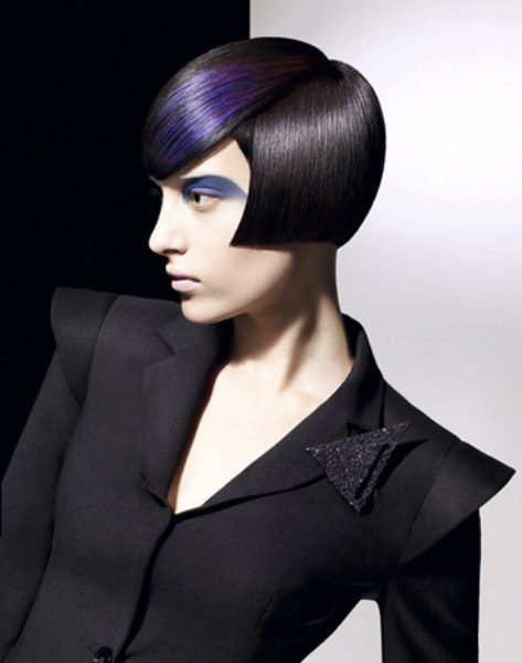 extreme bob haircuts cheekbone bob with blue hair coloring 2882 | las4a