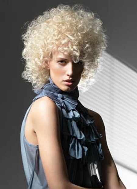 Platinum Blonde Curls Created With A Moderate Permanent