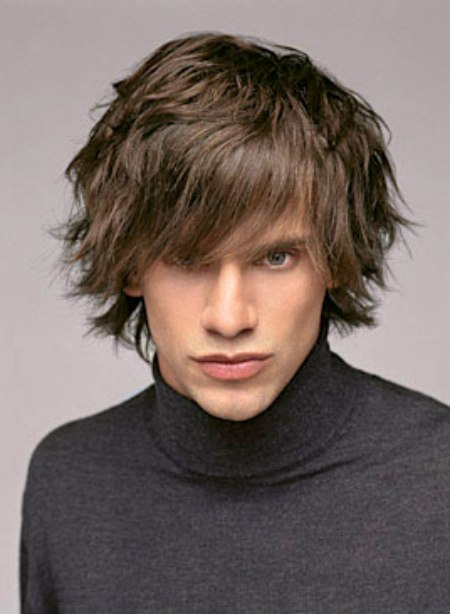 Swell Flippy Shag Haircut For Men With Hair That Lies Around The Neckline Short Hairstyles For Black Women Fulllsitofus