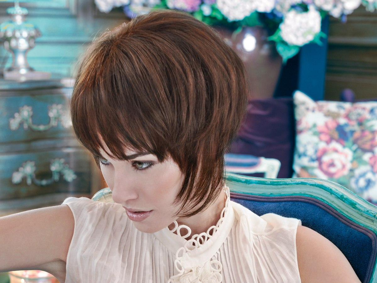 Hair Styles That Are In: Short Haircut With The Hair Styled Close To The Neck