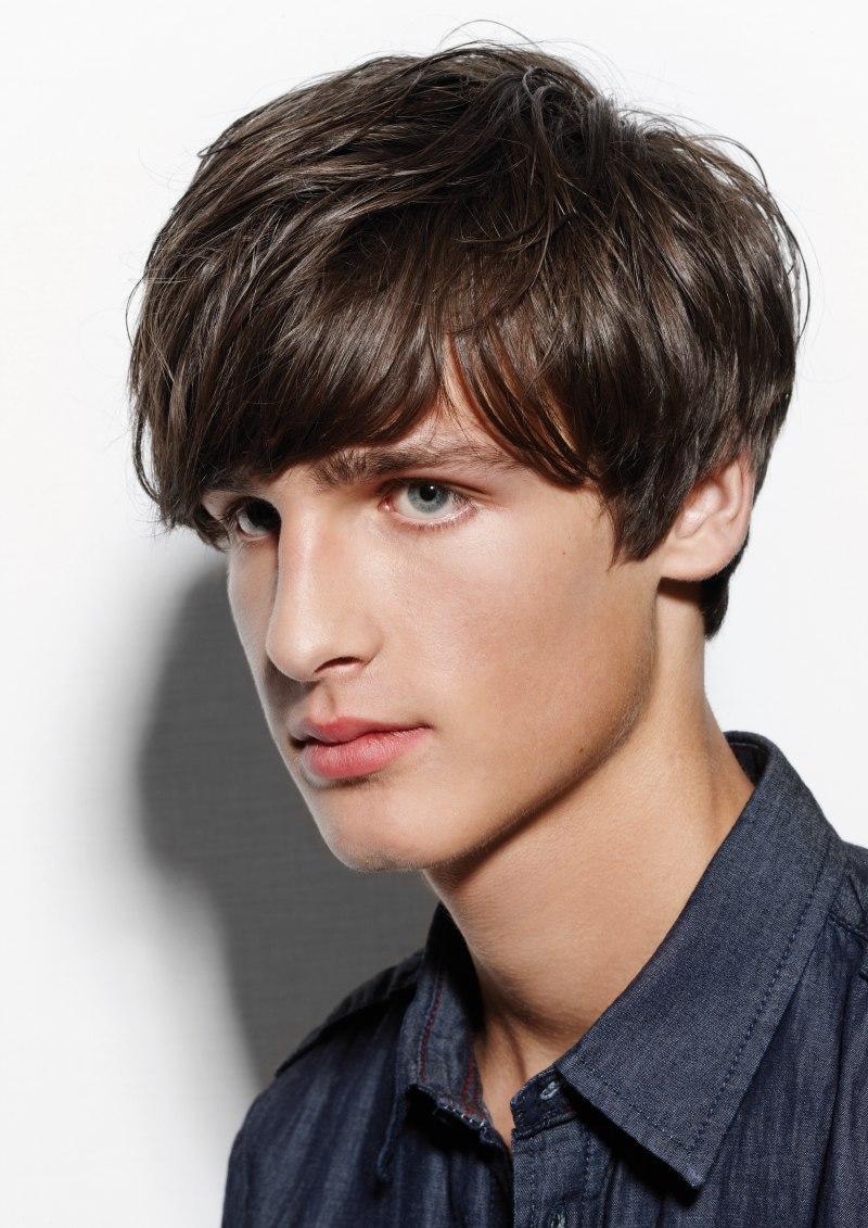 Beatles haircut or mushroom cut | Side view