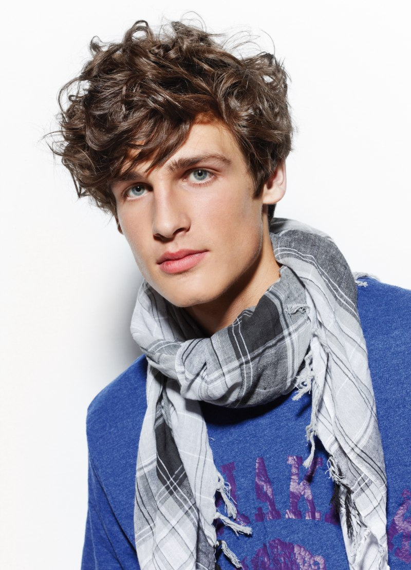 Preppy Styling For A Men S Haircut With Curls