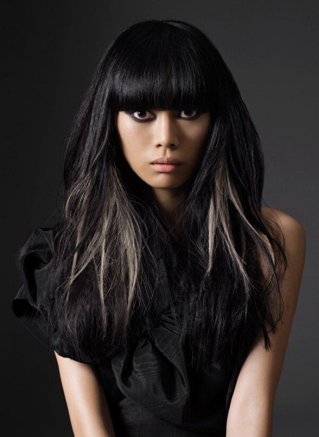 Black Hair With Silver Streaks Www Pixshark Com Images