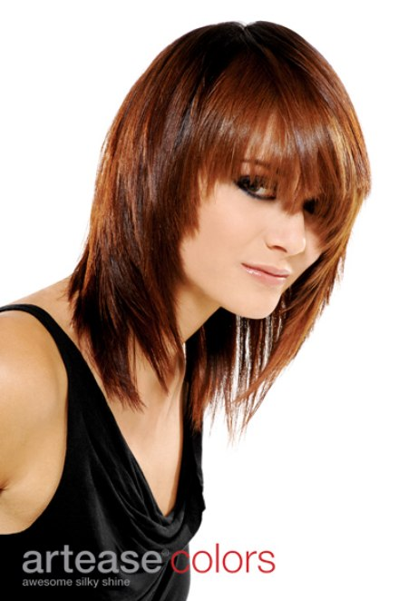 Milk Chocolate Brown Hair Color Long Sleek And Youthful Haircut