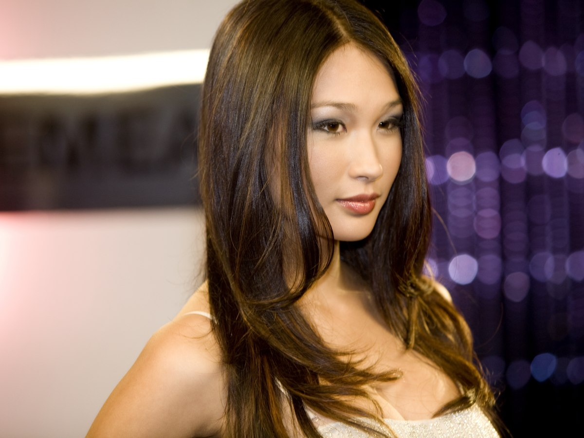 Long Sleek Chocolate Brown Hair With A Yellow Sheen