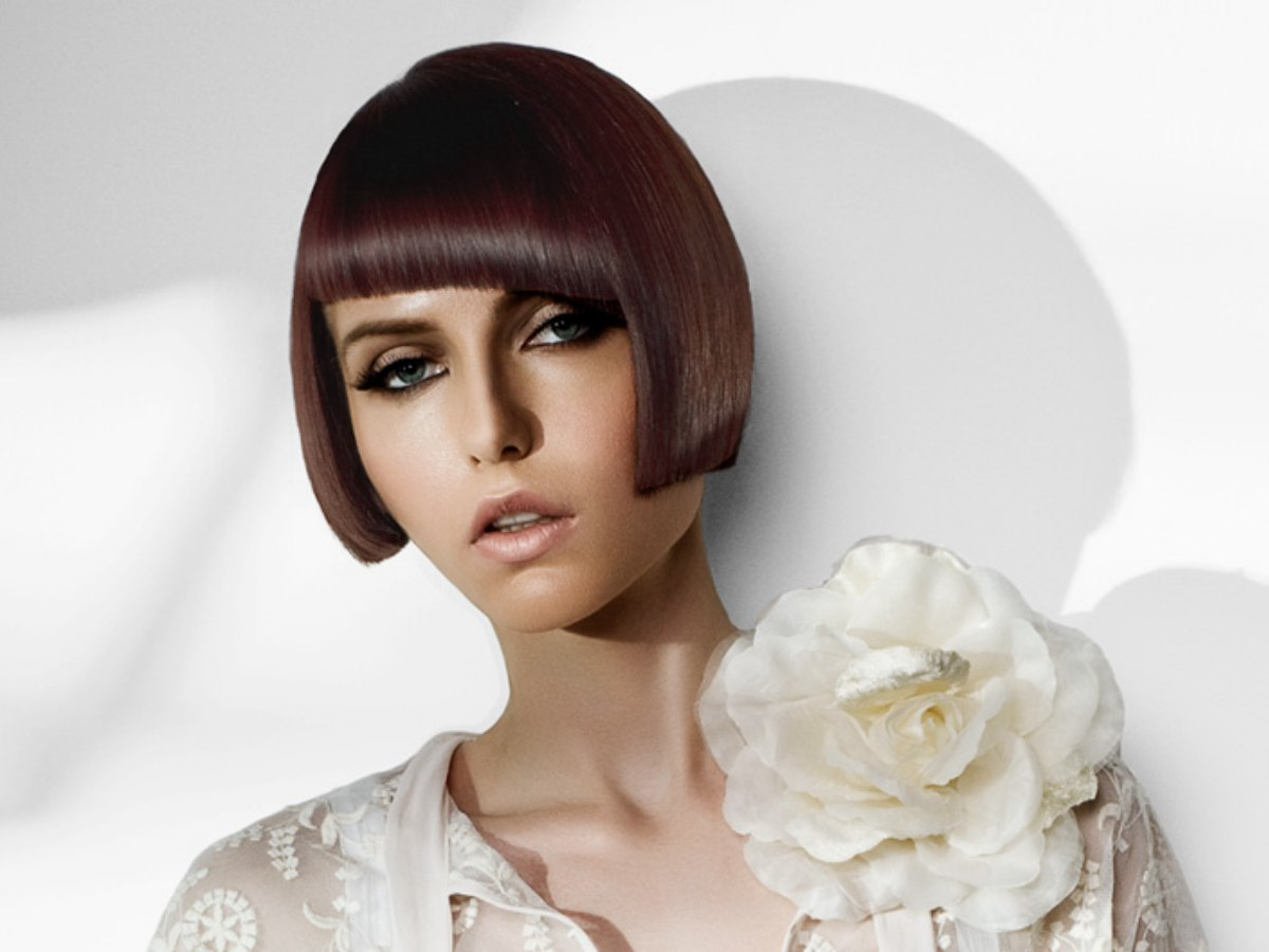 Hair Style Of Death: Short French Bob In A 1920's Length And Mahogany Color