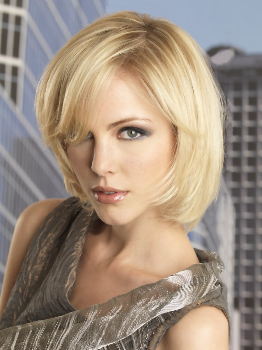 Professional Hair Makeup Artists: Medium Length Hairstyle With Easy Maintenance For