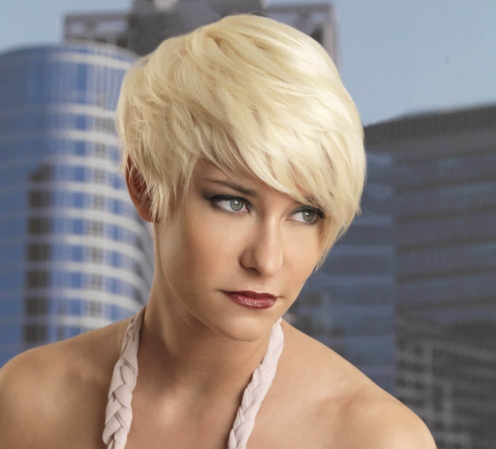 short purple hairstyles : Short Hairstyles For A Sagging Neck Picture Short Hairstyle 2013
