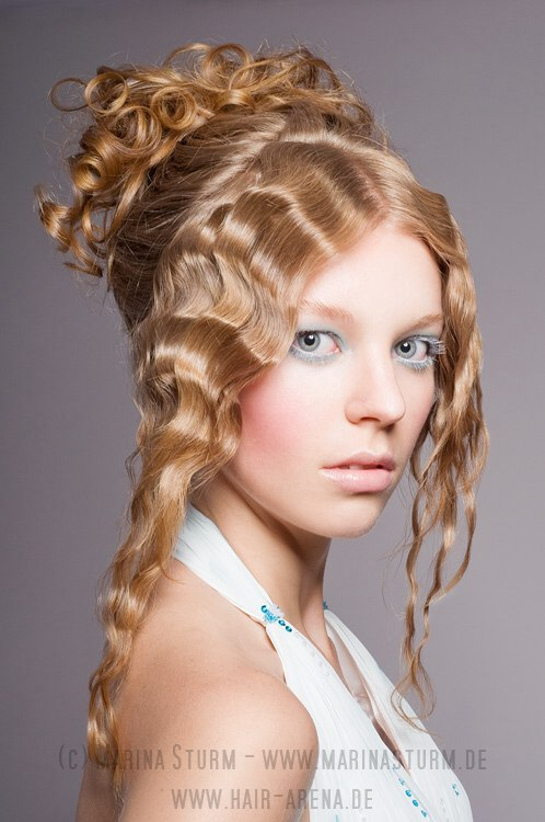Hairstyle For A Festive Look With Renaissance Curls