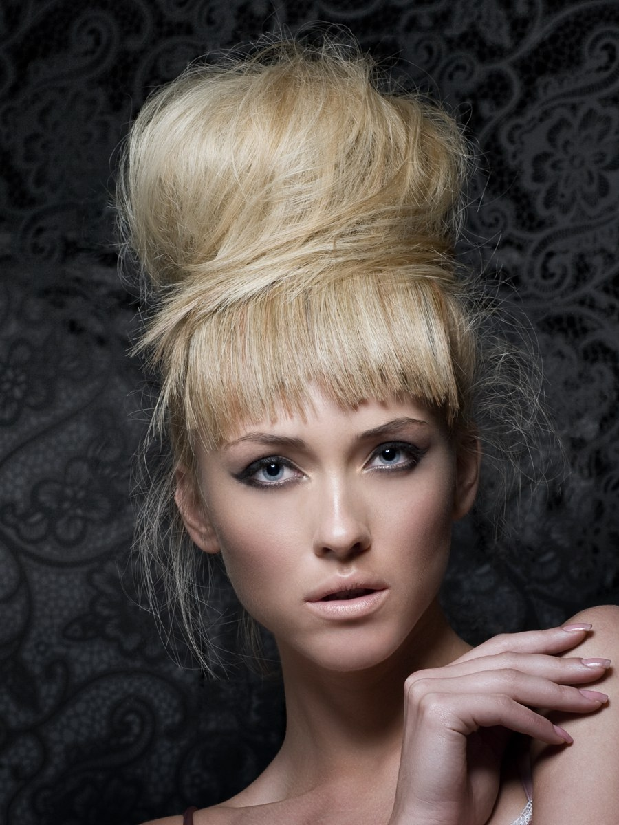 Blonde Updo With High Volume
