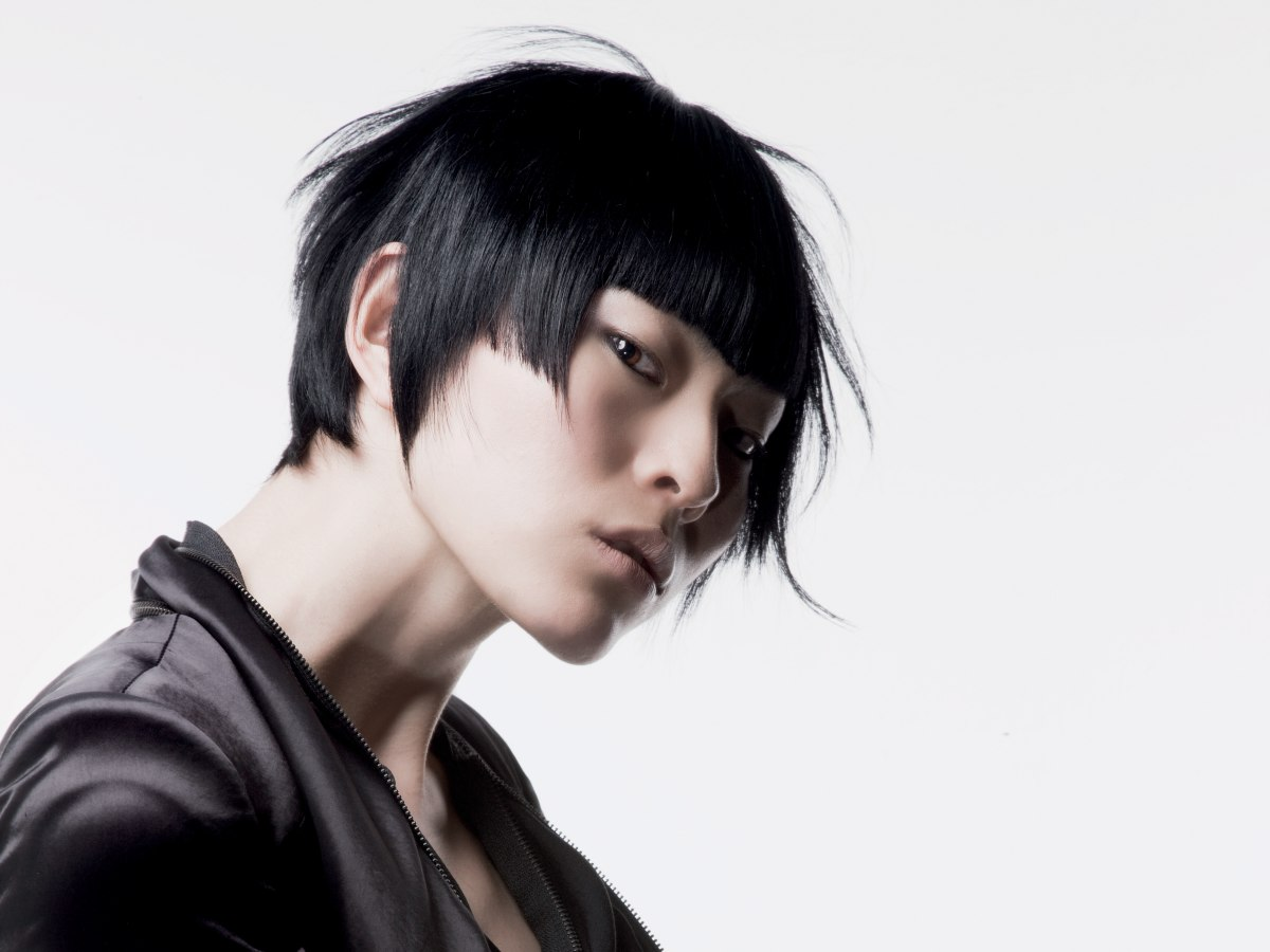 Styling Asian Hair: Asian Bob Hairstyle With Sharp Angles Towards The Face