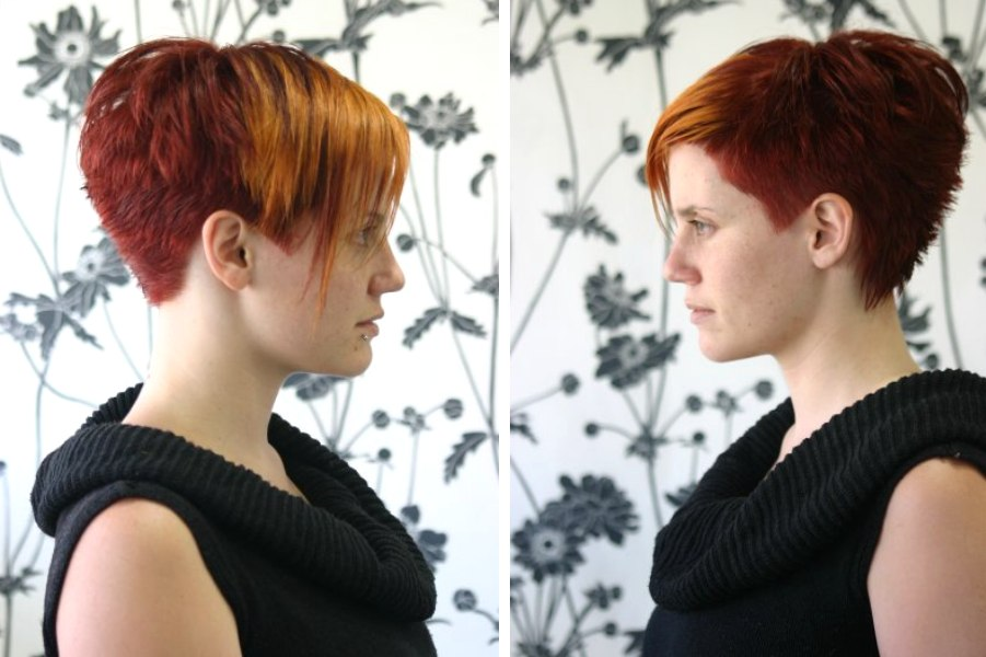 Short Punky Hairstyle With Varying Lengths And A
