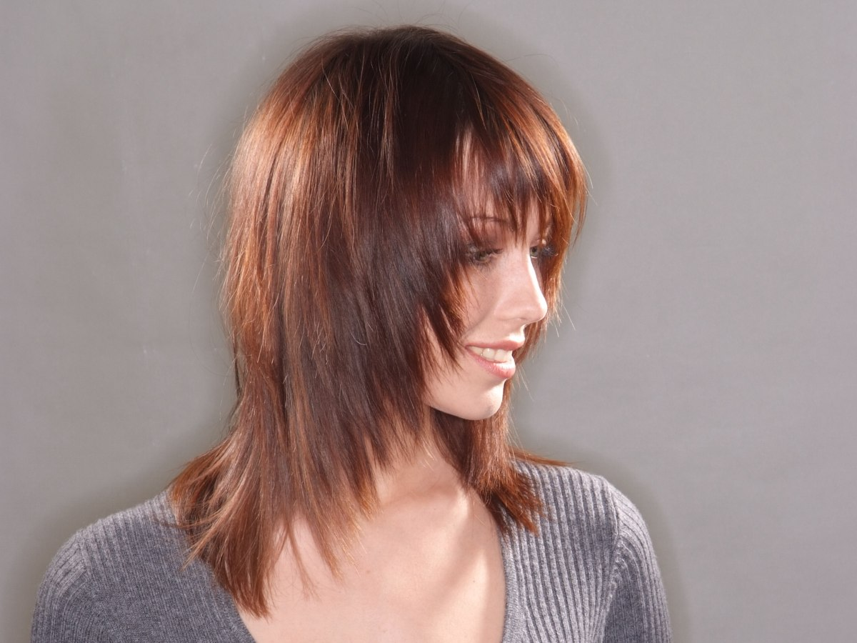 Long Haircut With Tapering And Texture That Frames The Face
