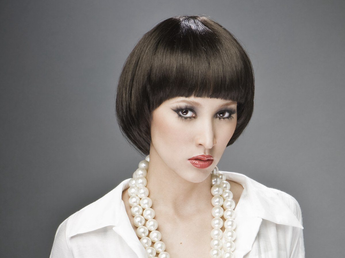 Mireille Mathieu Update: Mireille Mathieu Hairstyle With The Hair Cut In A Bowl