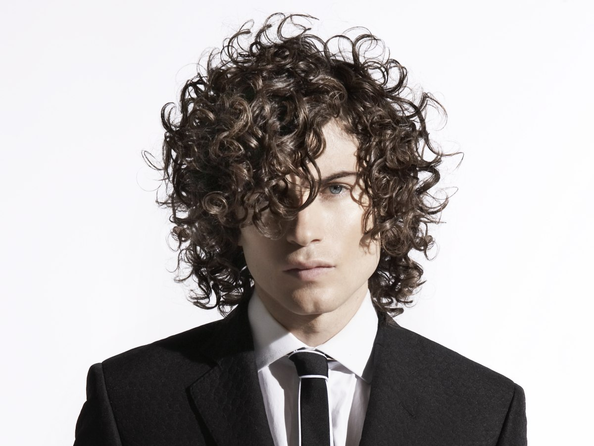 Long Hairstyle With Curls For Artistic Men