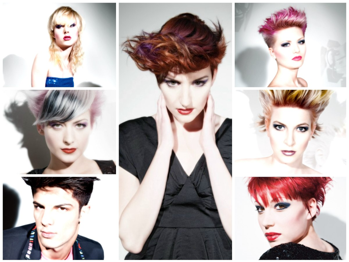 Punky Hairstyles For Men And Women Bright Hair Colors