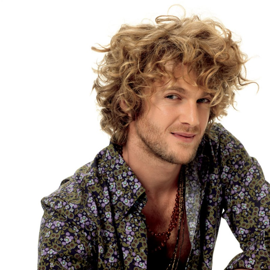 Super Shag Hairstyle For Blonde Men With Curly Hair Hairstyle Inspiration Daily Dogsangcom