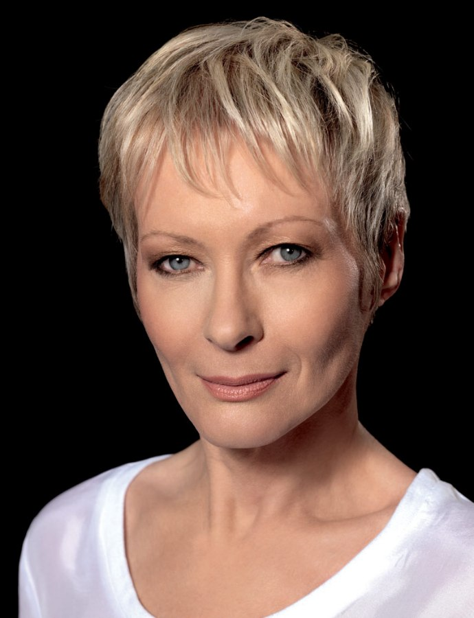 Vital and flattering short haircut for older women