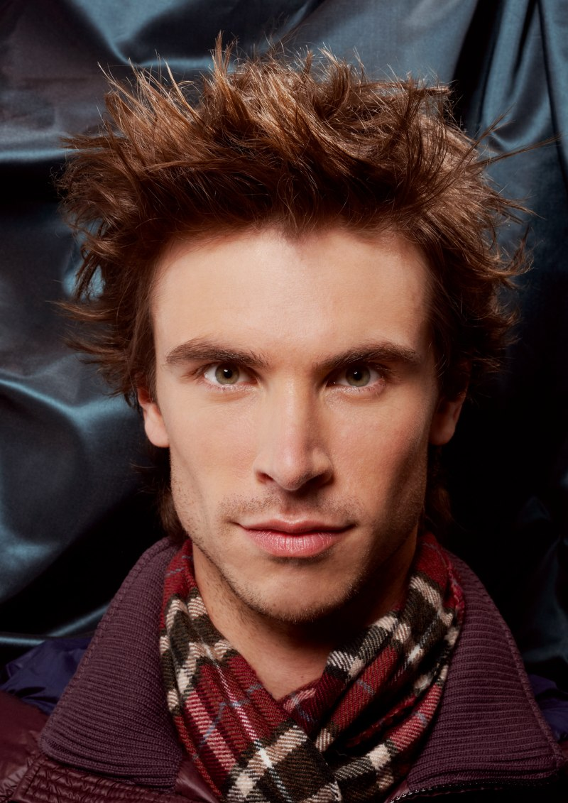 Wild Hairstyle For Men With Natural Wave