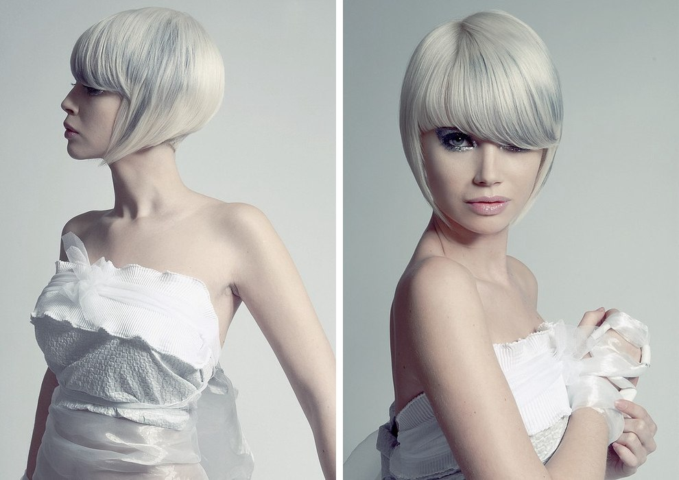 8 Hairstyles: Short Bob Haircut With A Pointy Shape Hugging The Face