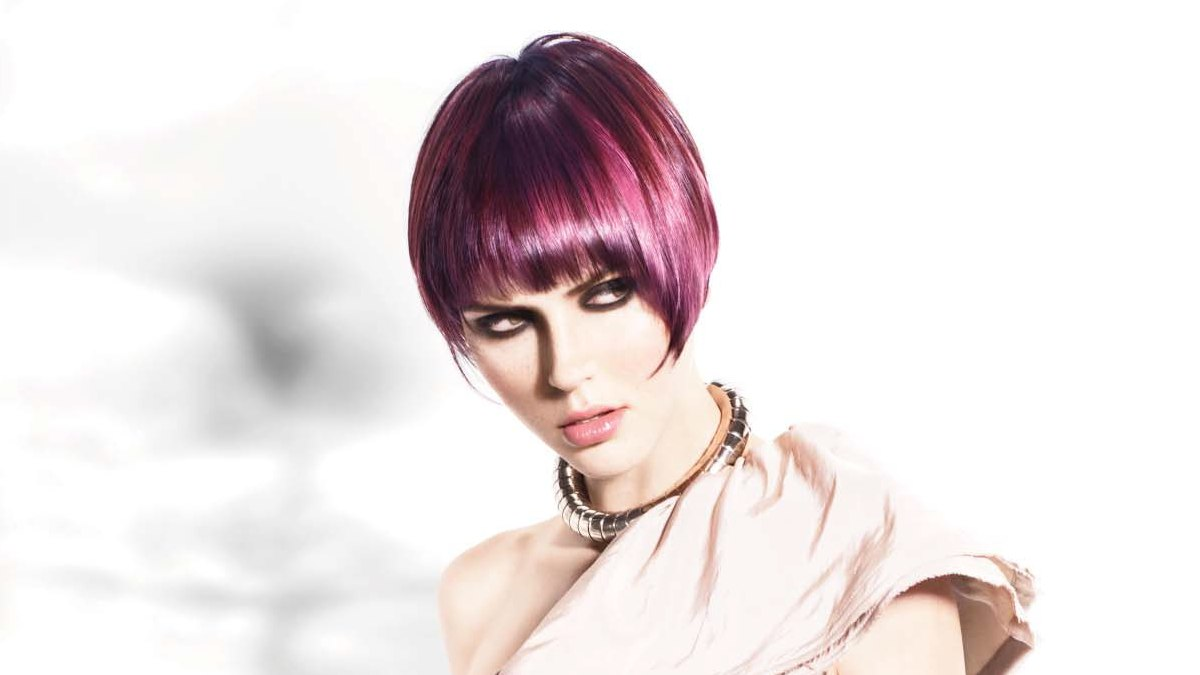 Pink And Purple Hair Styles: Hairstyles With Fashionable Shapes And Color Contrasts