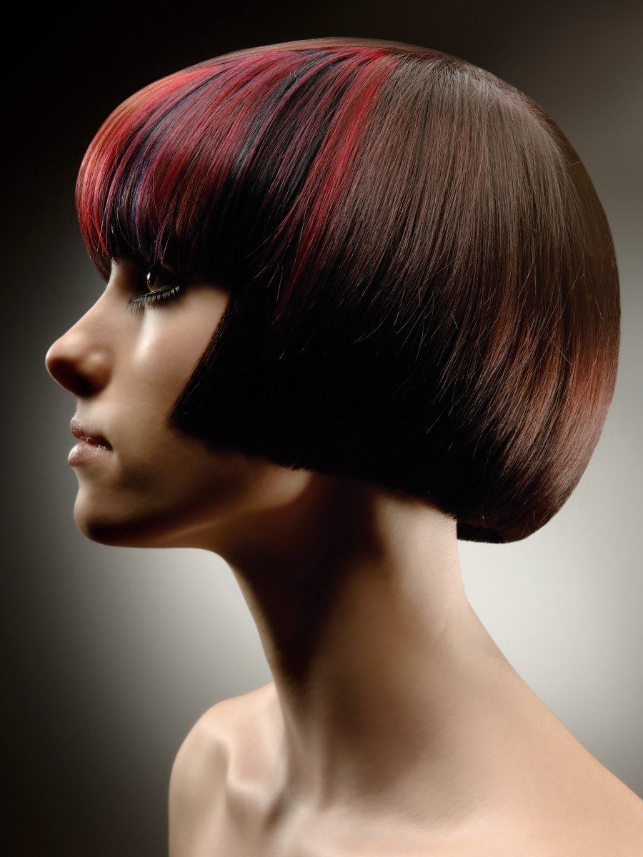 Meticulously Cut Bob With Undercut To Secure An Inward Curve
