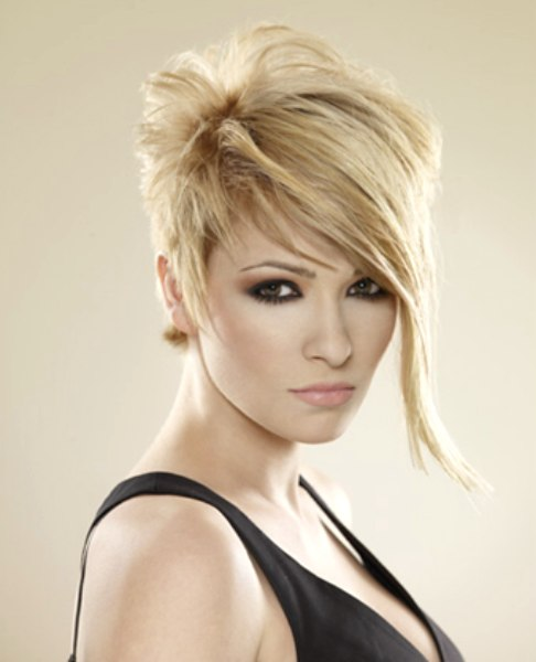 High Fashion Pixie Styled With An Uprising Curl Or For A Punky Look