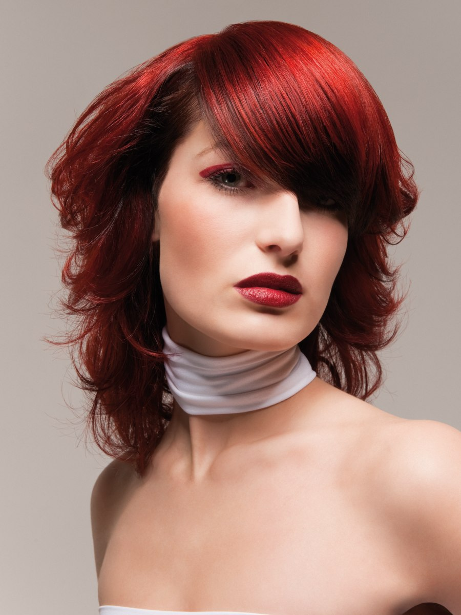 Ultramodern Hairstyle For Fire Red Hair