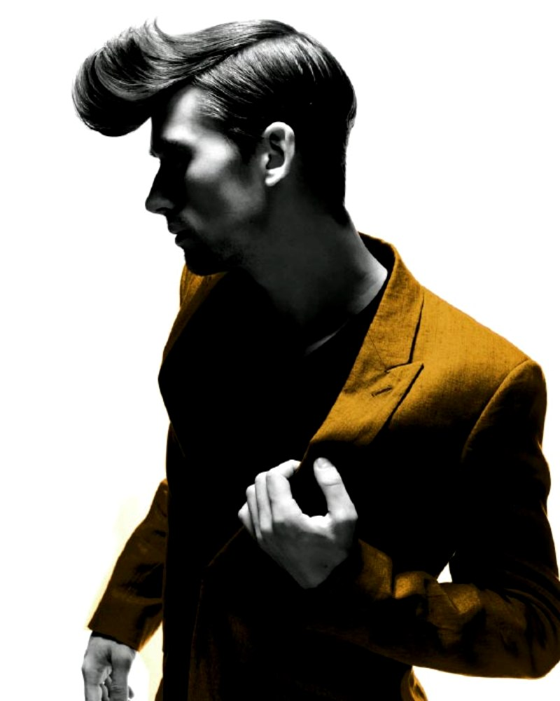 Short Men S Hairstyle With A Flipped Up Forelock