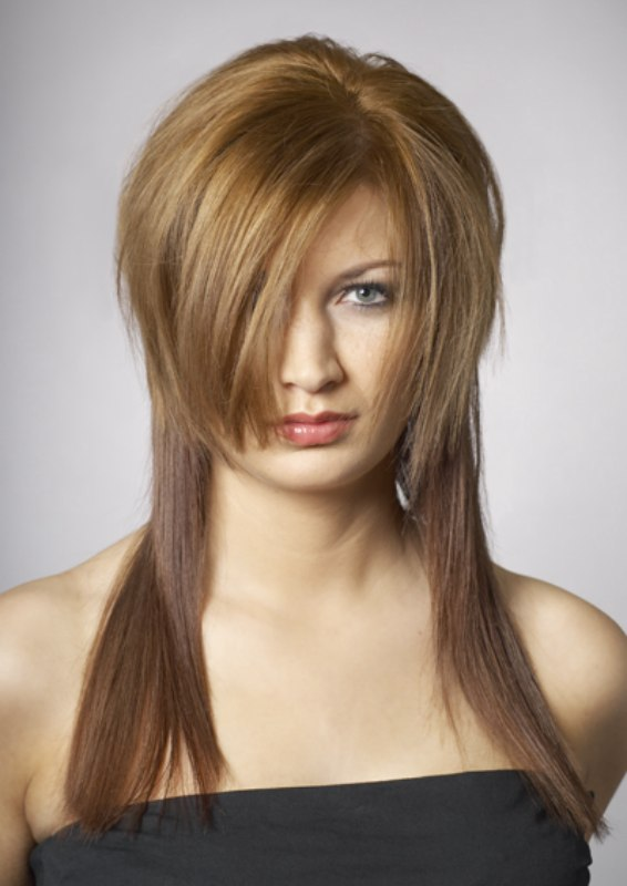 short layered on top long bottom layer short hairstyle 2013