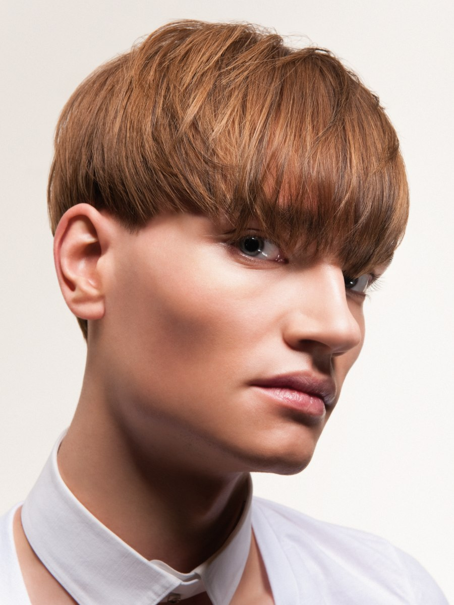 Mod Hair Cut For Men With Bangs That Cover The Brows