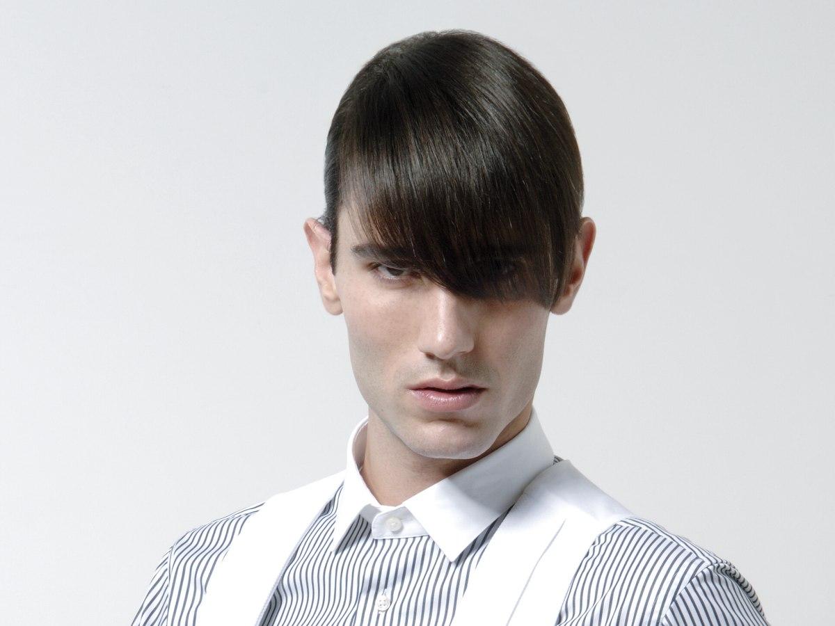 Hair Style For Guys: Men's Hair Cropped Super Short And Styled With Pomade