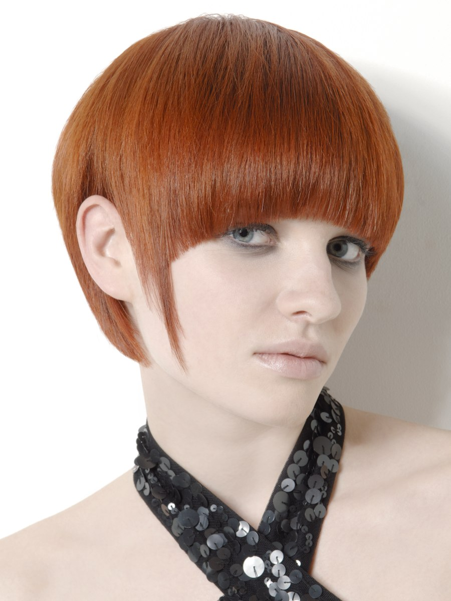 Bowl Or Mushroom Cut With A Cut Out Ear Section